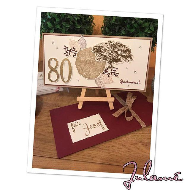 Herzliche Glückwünsche 80. Geburtstag!#stampinup #julamé #80geburtstag #glückwunschkarte #stolzesalter