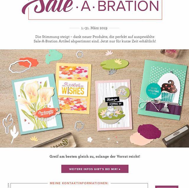 (Werbung) Passend zu den Sale A Bration Artikel gibt es ab heute auch die passenden Framelits zu kaufen, nur im Monat März! Sprech mich gerne an!#stampinup #saleabration2019 #julamé