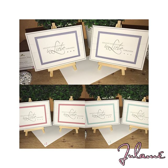 Die ersten Karten für die neue Hochzeitssaison sind fertig, hab direkt auch mal ausprobiert, wie das neue Rokkoko-Rosa aussieht  #stampinup #julamé #stempelnmachtglücklich #derschönstetagimleben #hochzeitskarten