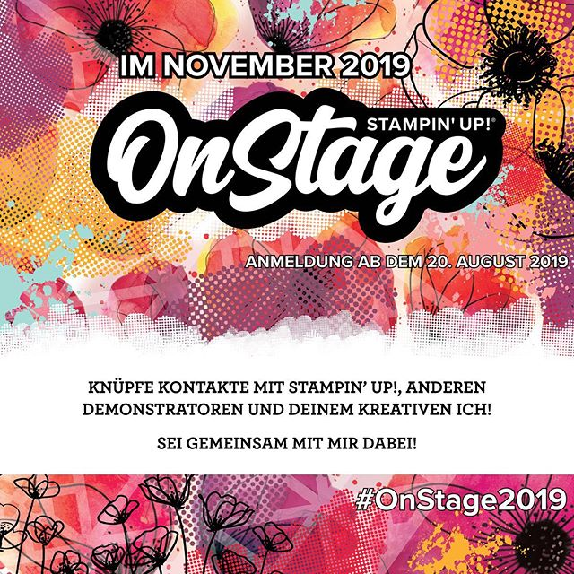 Ich hab's geschafft und bin mit dabei im November bei der OnStage Live von Stampin' Up! In Dortmund ️! Freue mich schon darauf euch alle wiederzusehen 🥰! #julamé #stampinup #onstage2019